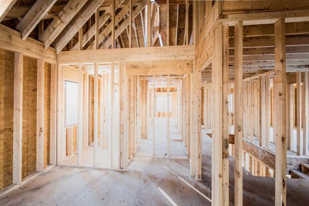 Site de construction d'une maison à ossature bois